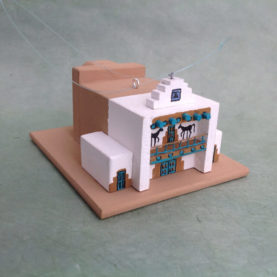SANTO DOMINGO PUEBLO CHURCH MODEL