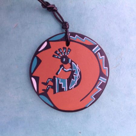 KOKOPELLI POTTERY ORNAMENT BY DELIA GAUCHUPIN