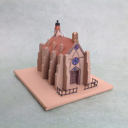 LORETTO CHAPEL CHURCH MODEL