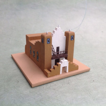 TAOS PUEBLO CHURCH MODEL
