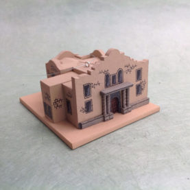 THE ALAMO, TEXAS CHURCH MODEL