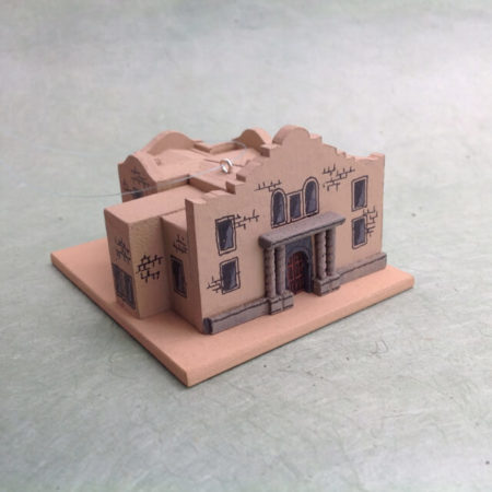THE ALAMO, TEXAS CHURCH MODEL