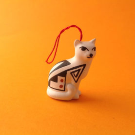 SITTING ACOMA CAT ORNAMENT BY PRISCILLA JIM
