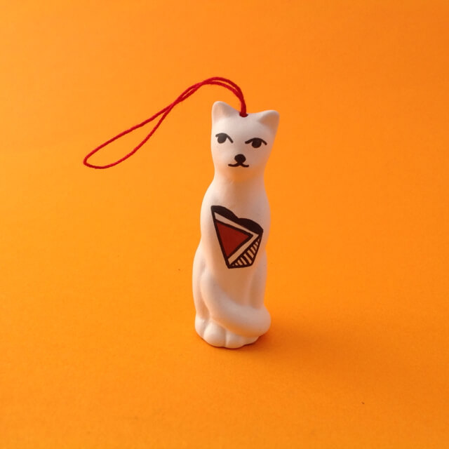 TALL ACOMA CAT ORNAMENT BY PRISCILLA JIM