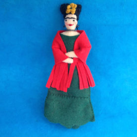 FRIDA KAHLO FELT ORNAMENT BY LEAH KOSTOPLOS