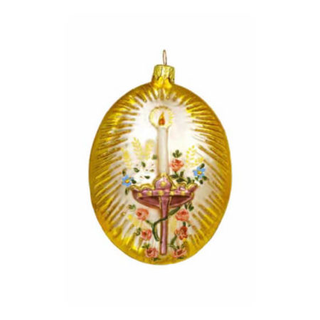 THE CROWNED NUN GLASS ORNAMENT BACK