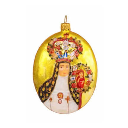 THE CROWNED NUN GLASS ORNAMENT