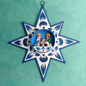 PERUVIAN NATIVITY STAR ORNAMENT