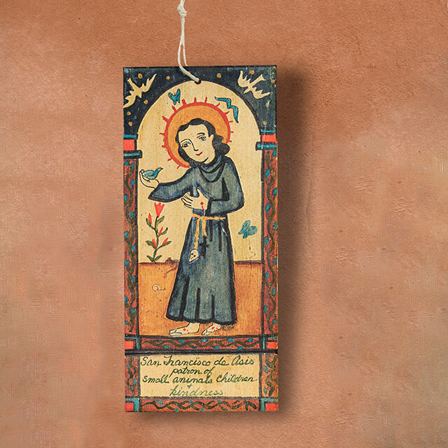 SAN FRANCISCO DE ASIS RETABLO ORNAMENT BY LYNN GARLICK