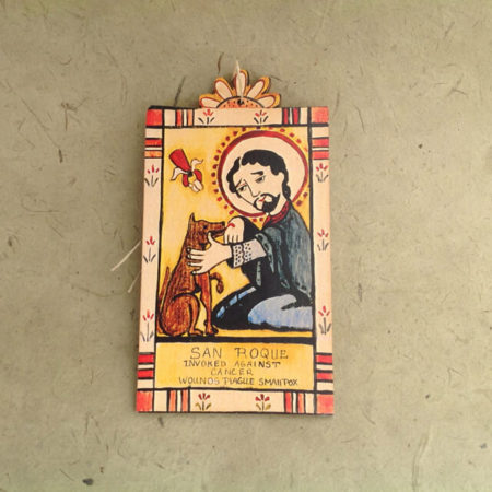 SAINT ROCH RETABLO ORNAMENT BY LYNN GARLICK