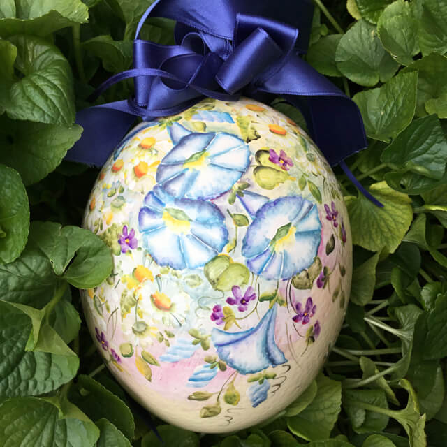 OSTRICH PAINTED EGG FROM AUSTRIA