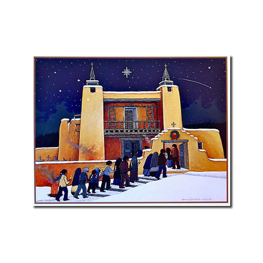 CHRISTMAS AT LAS TRAMPAS - 9 CARDS BOX BY DOUGLAS JOHNSON