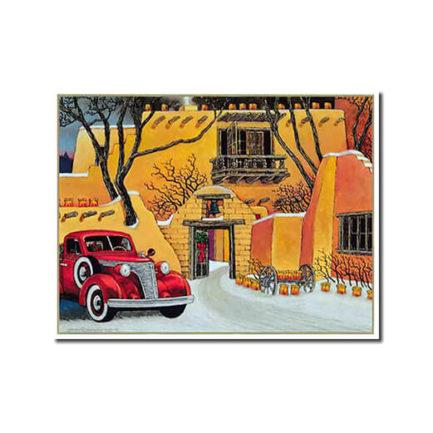 SANTA FE CHRISTMAS AT DUSK - 9 CARDS BOX BY DOUGLAS JOHNSON
