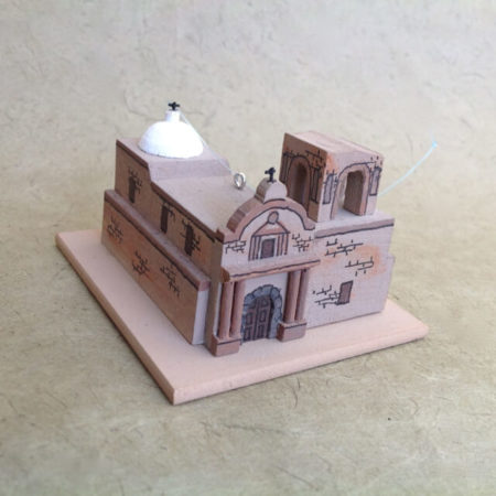 TUMACACORI CHURCH MODEL
