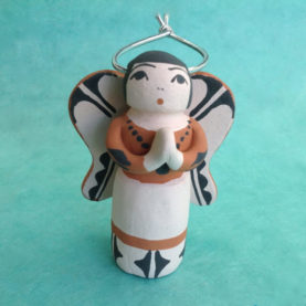 SANTO DOMINGO PUEBLO POTTERY ANGEL BY ANGEL BAILON
