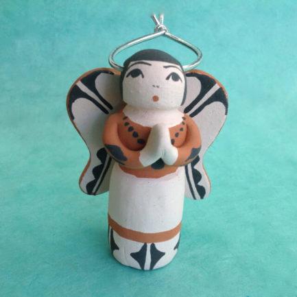 SANTO DOMINGO PUEBLO POTTERY ANGEL BY ANGEL BAILON