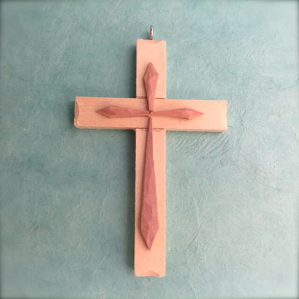 SMALL WOODEN CROSS BY RUDY LUCERO