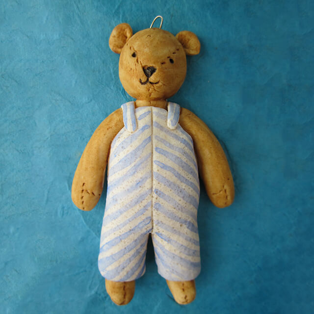DOUGH TEDDY ORNAMENT BY SUSAN WEBER