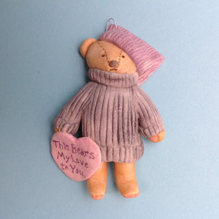 "DOUGH ""THIS BEARS MY LOVE"" ORNAMENT BY SUSAN WEBER"