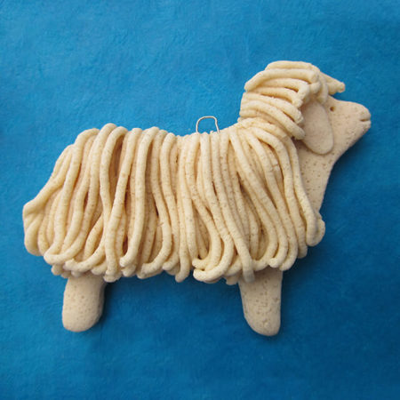 DOUGH LAMB ORNAMENT BY SUSAN WEBER