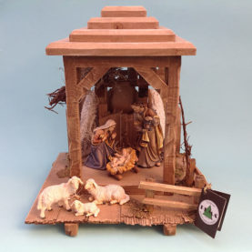 PEMA WOODEN NATIVITY, ITALY