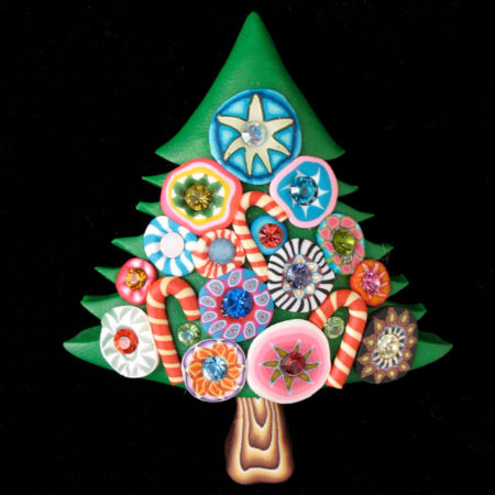 BILLIE BEADS CHRISTMAS TREE PIN (LARGE)