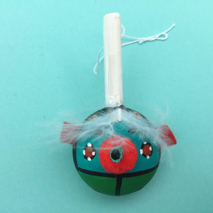 HOPI RATTLE ORNAMENT BY MARY ROGGE
