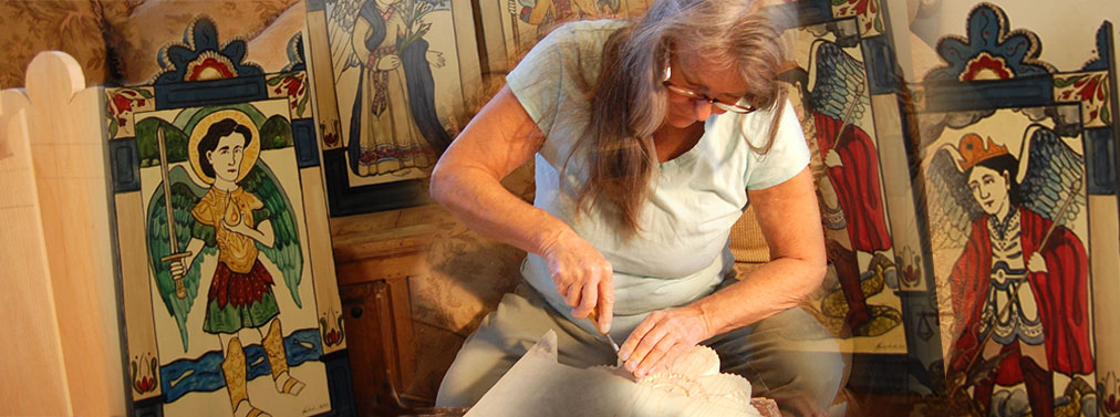 Lynn Garlick in her workshop