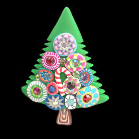 BILLIE BEADS CHRISTMAS TREE PIN (SMALL)