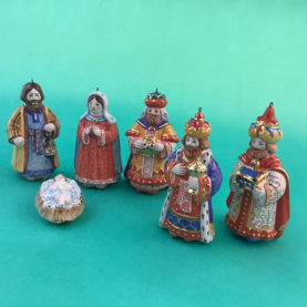 RUSSIAN MAJOLICA NATIVITY