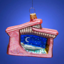 SANTA FE OPERA MOONLIGHT GLASS ORNAMENT