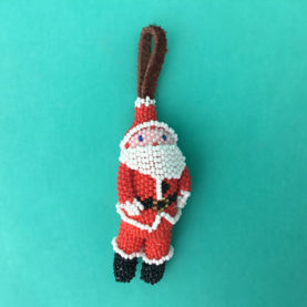 BEADED NAVAJO SANTA ORNAMENT