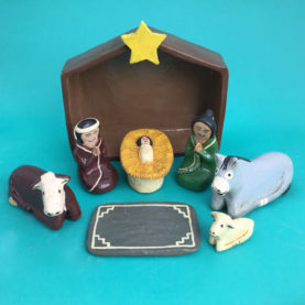 NAVAJO NATIVITY BY ELIZABETH MANYGOATS