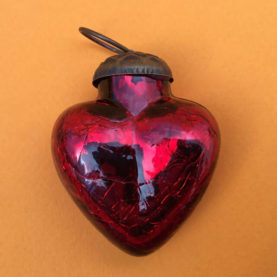 MERCURY GLASS HEART