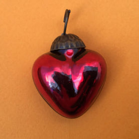 SMALL MERCURY GLASS HEART
