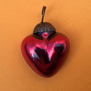 SMALL MERCURY GLASS HEART