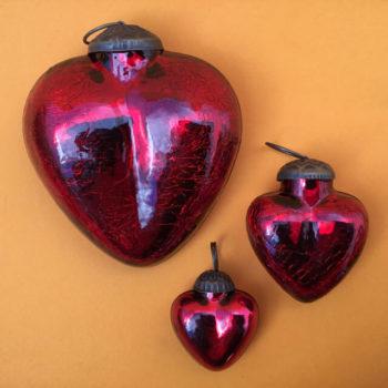 MERCURY GLASS HEARTS