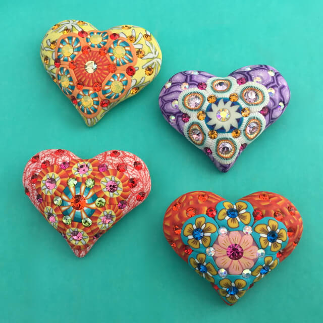 Billie Beads Heart Pins