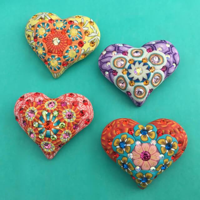 Billie Beads Heart Pins