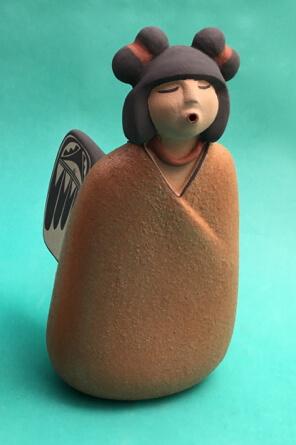 Maxine Toya pottery angel Jemez