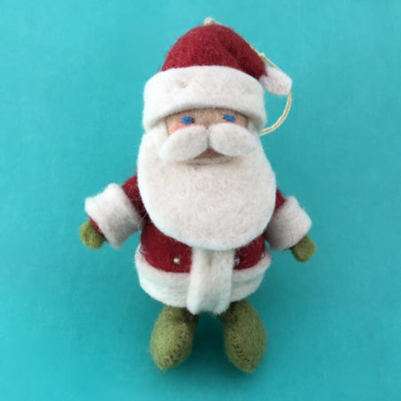 FELTED SANTA FROM KYRGYZSTAN