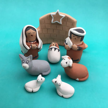 JEMEZ PUEBLO NATIVITY BY MARIE CHINANA