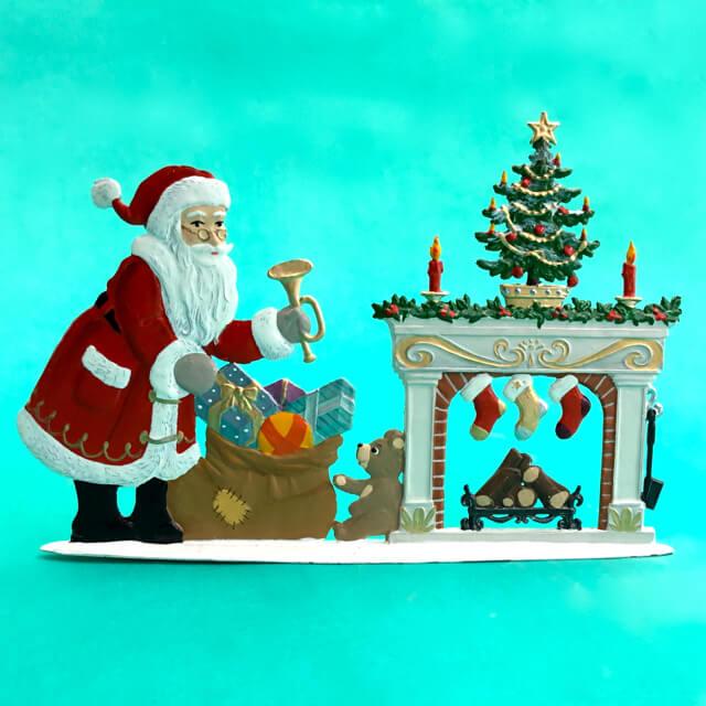 CHRISTMAS EVE SANTA GERMAN PEWTER