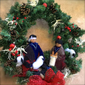 NAVAJO WREATH NATIVITY BY SYLVIA BEGAYE