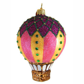BIJOUX HOT AIR BALLOON GLASS ORNAMENT