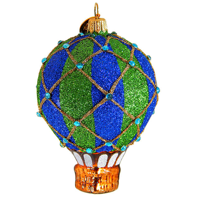 REFLECTION HOT AIR BALLOON GLASS ORNAMENT