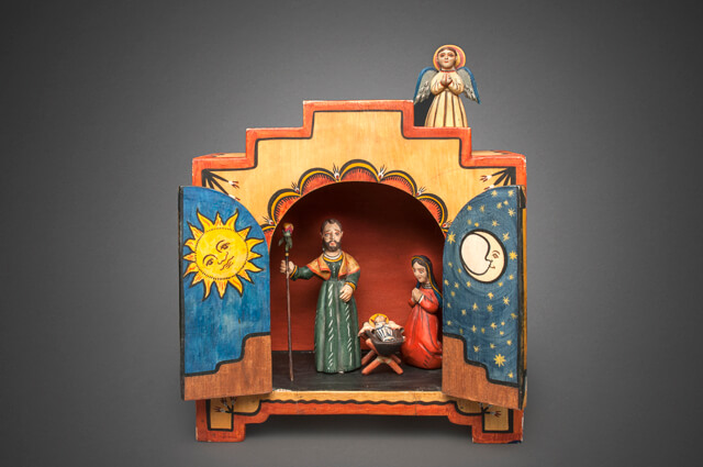 Charlie Carrillo original retablo nativity