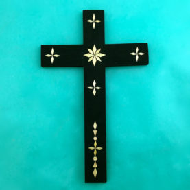 PORFIRIO'S WHEAT STRAW APPLIQUE CROSS BY CARLTON GALLEGOS