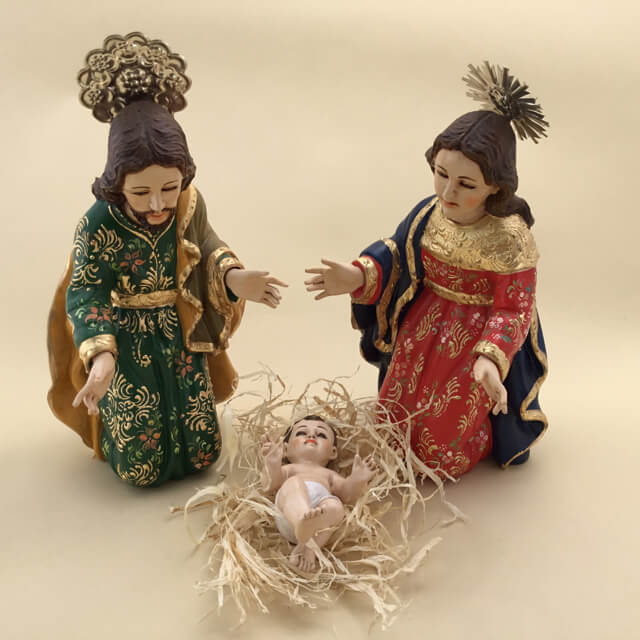 SPANISH COLONIAL STYLE NATIVITY BY EDMUNDO, ECUADOR