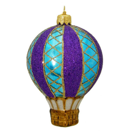 TWILIGHT HOT AIR BALLOON GLASS ORNAMENT